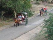 バガン遺跡を馬車で観光