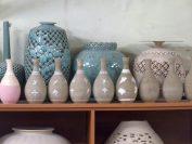 青磁作家金福漢氏の窯、製作工程が見られます