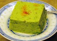 どれも上品な味わいが特徴。青豆、帆立貝柱、長葱などを使った翡翠豆腐。