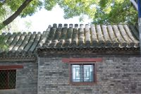 胡同の中の石造りの建物
