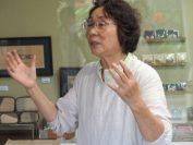 喜如嘉芭蕉布事業協同組合、理事長の平良美枝子さんにお話を聞く